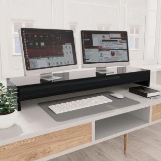 vidaXL Monitorständer Hochglanz-Schwarz 100×24×13 cm Spanplatte