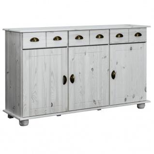 vidaXL Sideboard 134x39x79, 5 cm Massivholz Kiefer