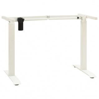 vidaXL Schreibtisch-Gestell Elektromotorisch Höhenverstellbar Weiß