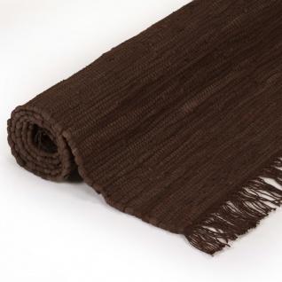 vidaXL Handgewebter Chindi-Teppich Baumwolle 80x160 cm Braun - Vorschau 3