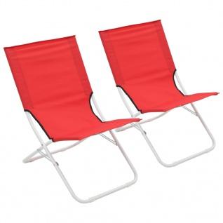 vidaXL Klappbare Strandstühle 2 Stück Rot