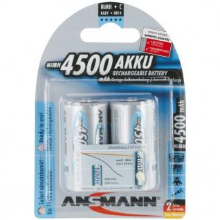 Ansmann Wiederaufladbare Batterien 2 Stk. NiMH 4500 mAh 5035352