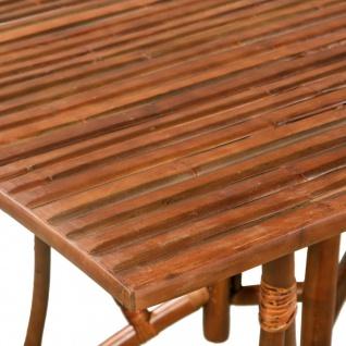 vidaXL Esstisch Bambus 115 x 70 x 75 cm Braun Rechteckig - Vorschau 3
