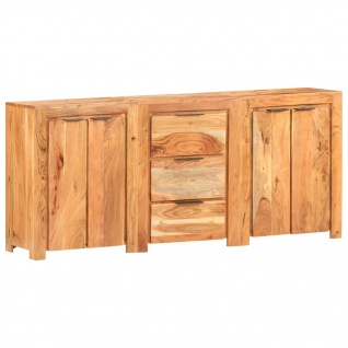 vidaXL Sideboard mit 3 Schubladen und 4 Türen Akazie Massivholz