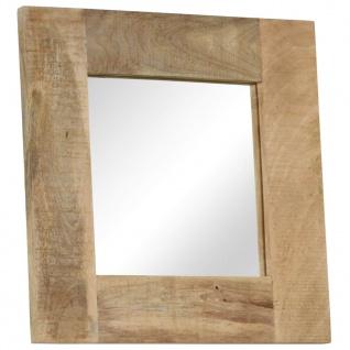 vidaXL Spiegel Massives Mangoholz 50 x 50 cm