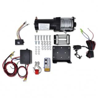 vidaXL Elektrische Seilwinde + Montageplatte Fernbedienung 1360 kg 12V