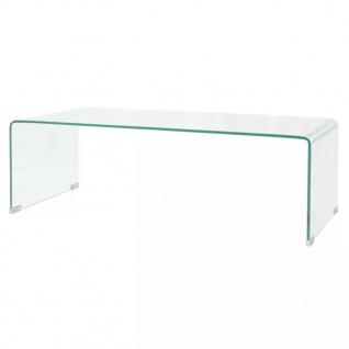 vidaXL Couchtisch aus gehärtetem Glas 100 x 48 x 33 cm Transparent
