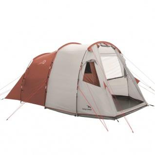 Easy Camp Zelt Huntsville 400 für 4 Personen Rot und Cremeweiß