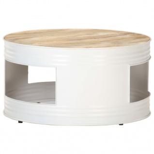 vidaXL Couchtisch Weiß 68x68x36 cm Massivholz Mango