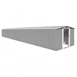 vidaXL Gerätehaus Grau 257x990x181 cm Verzinkter Stahl