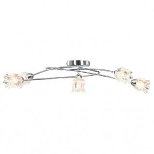 vidaXL Deckenleuchte mit Glas-Lampenschirmen für 5 G9-Leuchtmittel - Vorschau 3