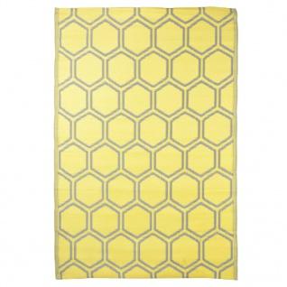 Esschert Design Outdoor-Teppich 182x122 cm Wabenmuster
