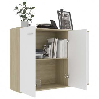 vidaXL Sideboard Weiß Sonoma-Eiche 105 x 30 x 75 cm Spanplatte - Vorschau 4