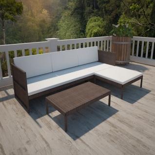 vidaXL Garten-Sofa-Set 9-tlg. Braun Poly Rattan