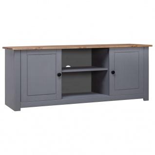vidaXL TV-Schrank Grau 120 x 40 x 50 cm Massivholz Panama-Kiefer