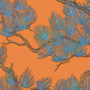 Dutch Wallcoverings Tapete Kiefer-motiv Blau Und Orange - Vorschau 3