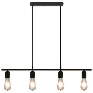 vidaXL Deckenleuchte mit Glühlampen 2 W Schwarz 80 cm E27