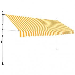 vidaXL Einziehbare Markise Handbetrieben 400 cm Gelb/Weiß Gestreift