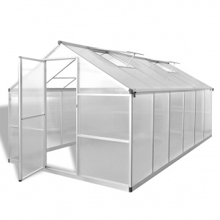 vidaXL Verstärktes Gewächshaus Aluminium 9, 025 m²