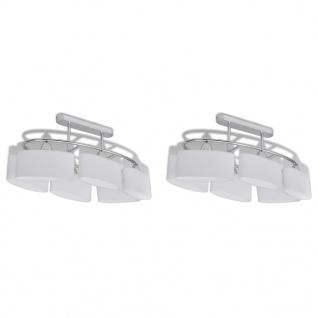 vidaXL Deckenlampe mit ellipsenförmigen Glasschirmen 2 Stk. E14 - Vorschau 2