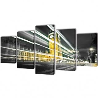 Bilder Dekoration Set London Big Ben 100 x 50 cm