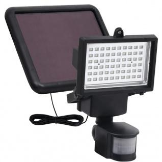 vidaXL LED-Gartenstrahler Solarbetrieben mit Sensor Schwarz