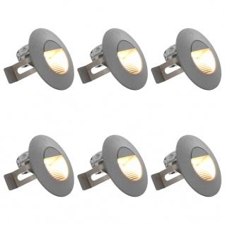 vidaXL Außenwandleuchten 6 Stk. LED 5 W Silbern Rund