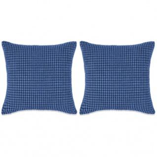 vidaXL Kissen-Set 2 Stk. Velours 45 x 45 cm Blau
