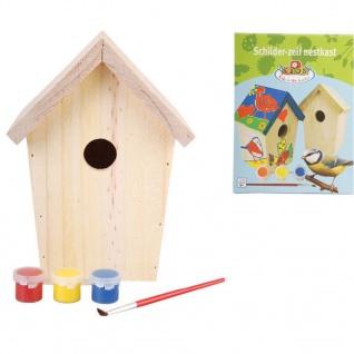 Esschert Design Vogelhaus zum Bemalen 14, 8x11, 7x20 cm KG145