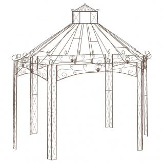 vidaXL Gartenpavillon Antik-Braun 400x258x378 cm Eisen