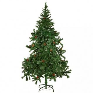 vidaXL Künstlicher Weihnachtsbaum mit Tannenzapfen 180 cm
