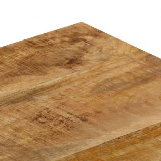 vidaXL Couchtisch 110 x 50 x 35 cm Mango-Massivholz und Stahl - Vorschau 5