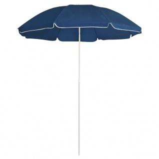 vidaXL Sonnenschirm mit Stahlmast Blau 180 cm
