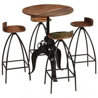 vidaXL Bar-Set 5-tlg. Massives Recyclingholz