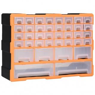 vidaXL Multi-Schubladen-Organizer mit 40 Schubladen 52x16x37, 5 cm