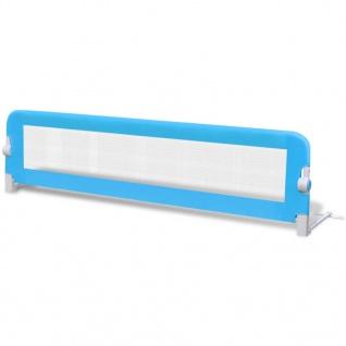 vidaXL Kleinkind Bettschutzgitter 2 Stück Blau 150 x 42 cm - Vorschau 3