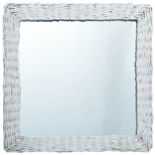 vidaXL Spiegel Weiß 60x60 cm Weide