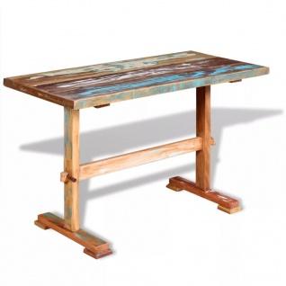 vidaXL Esstisch mit Holz-Untergestell Recyceltes Massivholz 120 x 58 x 78 cm