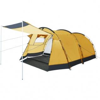 vidaXL Tunnel-Campingzelt 4 Personen Gelb