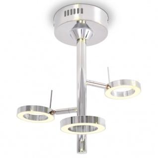 vidaXL LED-Deckenleuchte mit 3 Lampen Warmweiß