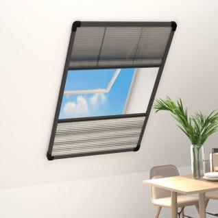 vidaXL Insektenschutz-Plissee für Fenster Alu 100x160 cm mit Jalousie