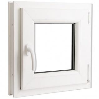 Dreifach Verglast PVC Drehkippfenster+Griff (linke Seite) 500x500mm