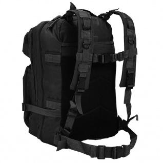 vidaXL Rucksack Armee-Stil 50 L Schwarz - Vorschau 3
