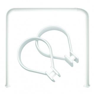 Sealskin Duschstange U-Form Seallux + 12 Ringe Weiß 13276668910
