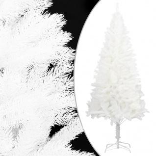 vidaXL Künstlicher Weihnachtsbaum mit Ständer Weiß 180 cm PE