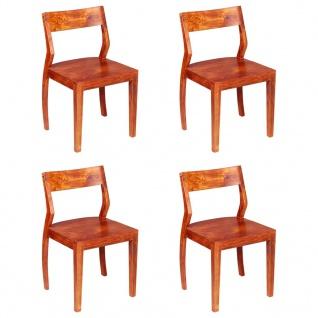 vidaXL Esszimmerstühle 4 Stk. Akazienholz Massivholz