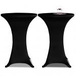 2 x Tischhusse für Stehtisch Stretchhusse Ø80 cm schwarz