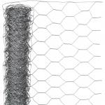 Nature Maschendraht-Hühnerzaun Grau 0, 5 x 2, 5 m 6050215