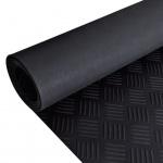 Gummi-Bodenmatte Antirutschmatte 2 x 1 m Riffelblechoptik