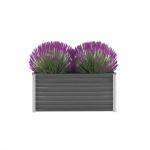 vidaXL Gartenpflanzen Verzinkter Stahl 100x40x45 cm Grau